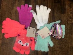 So Girls Sequins Gloves So Fox Gloves 2 Mismatched Texting Gloves. 3 Pairs $8.00