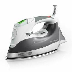 Black Decker Digital Advantage Professional Steam Iron LCD Screen Gray D2030 $33.00