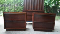 PAIR VINTAGE MID-CENTURY NIGHT TABLES STANDS DANISH MODERN ERA $165.00