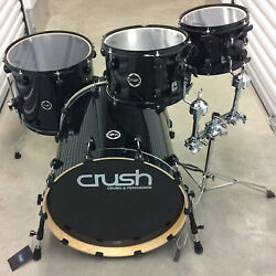 Crush Drums Chameleon 4 Piece Drum Kit! 20-16-12-10! Black Finish $325.00