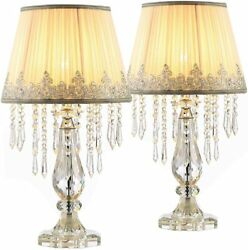 New Set of 2 Elegant Fantasy Style Crystal Lamps $389.00