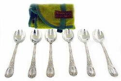 Antique Set Of 6 Tiffany amp; Co Old French Silver Plated Ice Cream Spoons 5 1 2quot; $159.99