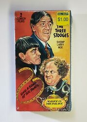 UAV VHS 3 Stooges Sing a Song of Six Pants amp; Malice in the Palace Comedy Cult NR $6.99