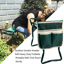 Foldable Outdoor Garden Kneeler Soft Heavy Duty Portable With Tool Pouch Sturdy $8.09