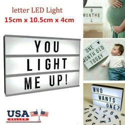 A6 LIGHT UP LETTER BOX CINEMATIC LED SIGN PARTY WEDDING PLAQUE SHOP CINEMA DIY $13.59