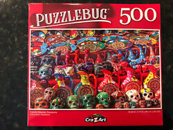 Puzzlebug 500 Piece Jigsaw Puzzle Colorful Mexican Souvenirs Day Of The Dead New $6.79