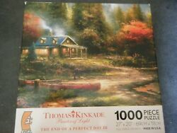 Thomas Kinkade-The End of a Perfect Day   1000 Piece Jigsaw Puzzle $0.50