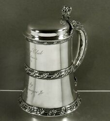 Tiffany Sterling Tankard                        c1885 CLUB TROPHY $2,950.00