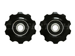 MTB Road Bike Rear Derailleur Jockey Wheel Pulley 10T Black $14.99