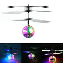 Flash Flying Ball Infrared Induction Colorful LED Disco RC Helicopter Toy SL $8.42