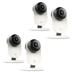 YI 4 Pack 1080p Home Camera with 2 Way Audio and 9m IR Range White #87075 A $94.98