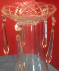 Set of 4 Bobece Each With 5 Hanging Crystals 4quot; Diameter Chandelier Parts Glass $19.99