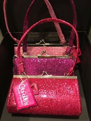 LITTLE GIRLS GLITTER PURSES NEW SET OF 3 BY CABOODLES MADE IN U.S.A. $13.99