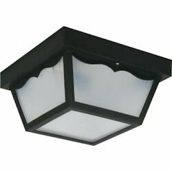 Lite CO L23419 Incandescent Outdoor Ceiling Fixture in Black New Damaged Box