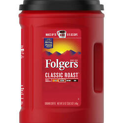 Folgers Classic Roast Ground Coffee 51 oz. FREE SHIPPING $11.03