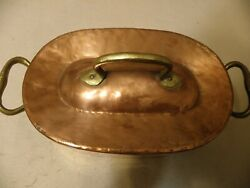 Antique  copper daubiere roasting pan $99.75