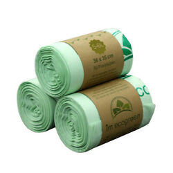 50PCS Biodegradable Compostable Bags Eco Friendly Trash Garbage Rubbish Bag Home $10.67
