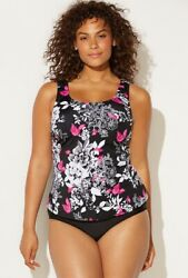 Swimsuits For All Mobius Classic Tankini Top Size 18 NWT RN88842 $19.99