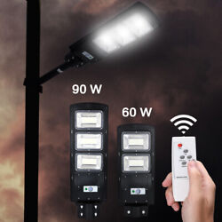 990000LM Solar LED Street Light Commercial Outdoor IP67 Area Security Flood Lamp