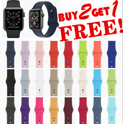 Silicone Band Strap for Apple Watch Series 1 2 3 4 5 iWatch Sports 38 40 42 44mm $5.49