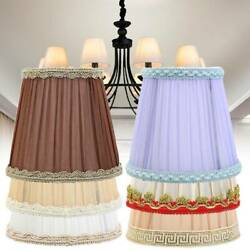 Modern Cloth Art Lamp Shades 6 Colors Mutilcolor Ceiling Chandelier Light Cover $7.98