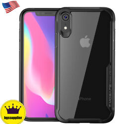 For iPhone XS Max XR X Clear Case Back Shockproof Bumper Protective Slim Cover $9.99