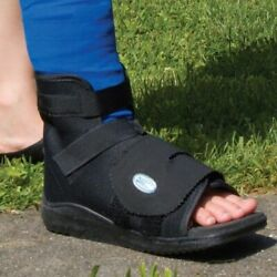 DARCO SLIMLINE CAST BOOT Shoe Black Square Toe ALL SIZES Post Op Medical Boot $21.21