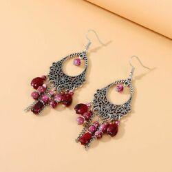 Beautiful Fashion Retro Magnificent Chandelier Earrings Red $9.98