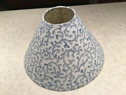 CROSCILL BLUE FILIGREE SMALL LAMP SHADE $24.99