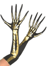 Suit Yourself Costumes Black amp; Gold Skeleton Gloves $15.99