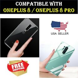 Soft Flexible Clear TPU Case Ultra Thin Crystal Cover for OnePlus 8 8 Pro $3.49