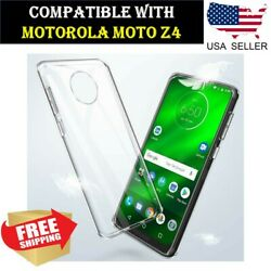 Soft Flexible Clear TPU Case Ultra Thin Crystal Cover for Motorola Moto Z4 $3.99