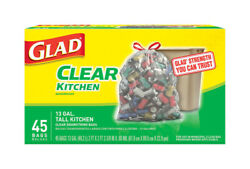 Glad 13 gal. Tall Kitchen Bags Drawstring 45 pk $17.51