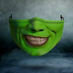 THE MASK Cloth Mask Halloween Adult Mouth Cover Reusable Unisex $15.68