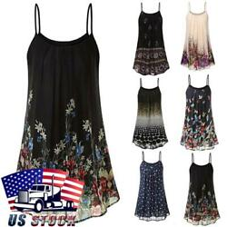 Womens Floral Strappy Mini Swing Dress Summer Casual Flared Sleeveless Sundress $14.19
