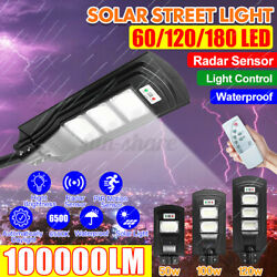 50 100 150W LED Solar Street Lights Panel Waterproof Commercial Outdoor Lamps $25.80