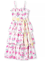 NWT Love Shack Fancy for Target White Pink Floral Spaghetti Strap Dress Size XL $49.99