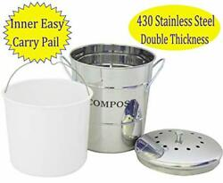 R.Y.SOMTA Stainless Steel Compost Bin for Kitchen1.3 Gallon Compost Kitchen P... $42.24