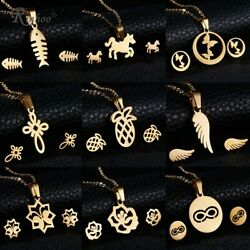 Multi Variety Women Gold Stainless Steel Jewelry Sets For Women Necklace Earring $2.27