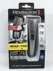 Remington Trimmer Shaver Clippers HEAD To TOE Grooming FULL Kit W Charging Stand $25.00