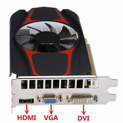 128Bit PCI E HDMI 4GB 1000MHz GDDR5 Fan Cooling 3D Game Graphics Card Video Card $43.86