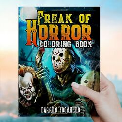 Freak Of Horror Coloring Book: Scary Creatures And Creepy Serial Killers $7.90