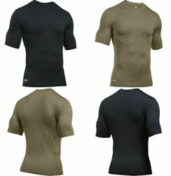 Under Armour 1280417 Men Fitted ColdGear Infrared Tactical Short Sleeve T Shirt $41.99