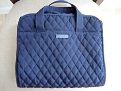 Vera Bradley Hanging Quilted Organizer Makeup Bag Classic Navy Blue $21.99