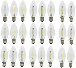 25 Pack LED Replacement Light Bulbs for Electric Candle Lamps Window Candles7w $24.99