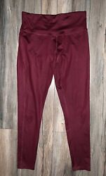 C9 Champion High Waisted Shine Leggings Sz. L Burgundy $14.99