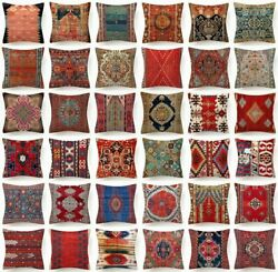 PILLOW COVER Tapestry Kilim Rug Print Decorative Double Sided Cushion Case 18x18 $7.86