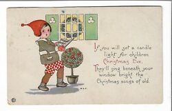 VTG Post Card Children on Christmas Eve $2.99