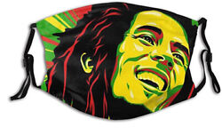 Cute Fotos De Bob Marley Mask 3D Printed Fabric Reusable Washable Face Mask $14.99