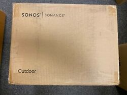 Sonos OUTDRWW1 Outdoor Architectural 6 1 2quot; Passive 2 Way Speakers Pair New $538.00